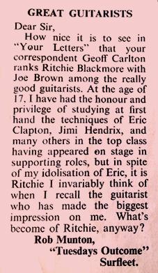 Ritchie Blackmore best guitarist