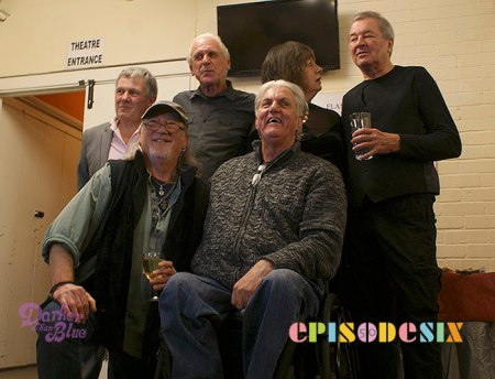 Back row Tony, Harvey, Sheila and Ian. Front row Roger and John.