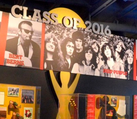 Deep Purple Rock & Roll Hall of Fame display