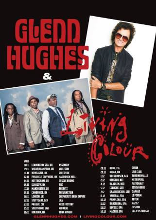 Glenn Hughes UK tour 2016 Living Colour support
