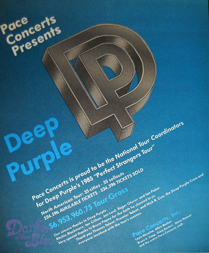 Deep Purple 1985 US tour gross