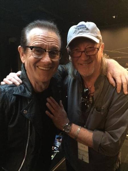 Roger Glover and Graham Bonnet backstage LA August 2017