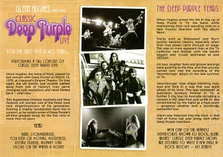 Glenn Hughes Deep Purple tour 2017 Australia