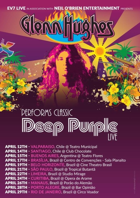 Glenn Hughes Deep Purple tribute April 2018 South America