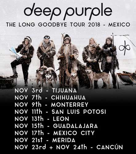 Deep Purple poster 2018