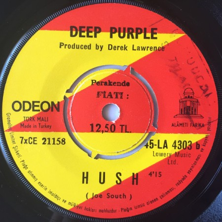 Deep Purple Hush Derek Lawrence