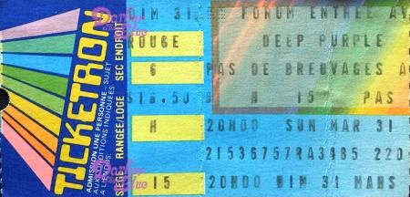 Deep Purple Forum Canada March 31 1985